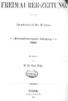 Freimaurer-Zeitung: Handschrift für Brüder 1889.01.01 R.43 Nr1