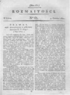 Rozmaitości. Pismo Dodatkowe do Gazety Lwowskiej. 1821 R.1 nr67