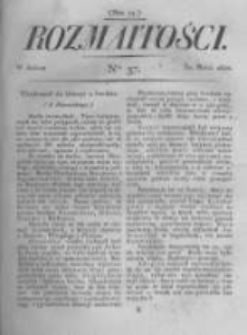 Rozmaitości. Pismo Dodatkowe do Gazety Lwowskiej. 1822 R.2 nr37