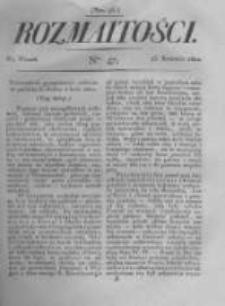 Rozmaitości. Pismo Dodatkowe do Gazety Lwowskiej. 1822 R.2 nr47