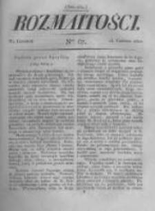 Rozmaitości. Pismo Dodatkowe do Gazety Lwowskiej. 1822 R.2 nr67