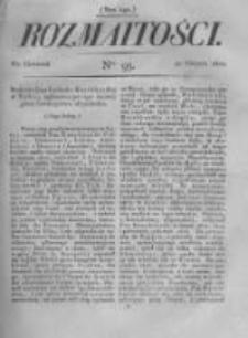 Rozmaitości. Pismo Dodatkowe do Gazety Lwowskiej. 1822 R.2 nr95