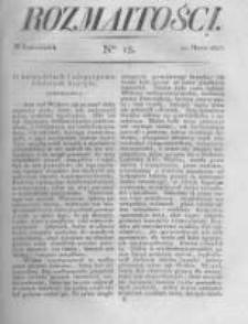 Rozmaitości. Pismo Dodatkowe do Gazety Lwowskiej. 1823 R.3 nr15