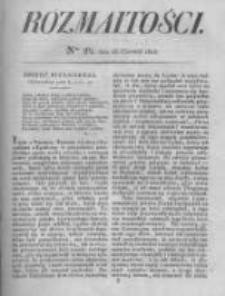 Rozmaitości. Pismo Dodatkowe do Gazety Lwowskiej. 1826 R.5 nr24