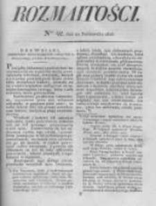 Rozmaitości. Pismo Dodatkowe do Gazety Lwowskiej. 1826 R.5 nr42
