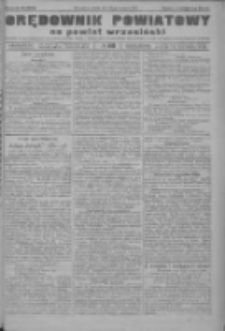 Orędownik powiatowy na powiat wrzesiński 1922.09.30 R.4 Nr115
