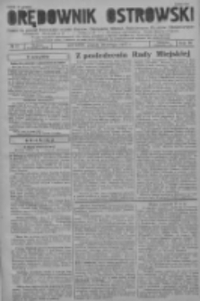 Orędownik Ostrowski: pismo na powiat ostrowski i miasto Ostrów, Odolanów, Mikstat, Sulmierzyce, Raszków i Skalmierzyce 1937.02.26 R.86 Nr17