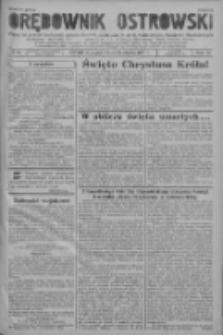 Orędownik Ostrowski: pismo na powiat ostrowski i miasto Ostrów, Odolanów, Mikstat, Sulmierzyce, Raszków i Skalmierzyce 1937.10.29 R.86 Nr96