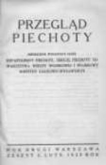 Przegląd Piechoty: miesięcznik wydawany przez Departament Piechoty, Sekcję Piechoty Towarzystwa Wiedzy Wojskowej i Wojskowy Instytut Naukowo-Wydawniczy 1929 luty R.2 Z.2