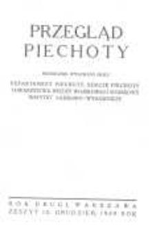 Przegląd Piechoty: miesięcznik wydawany przez Departament Piechoty, Sekcję Piechoty Towarzystwa Wiedzy Wojskowej i Wojskowy Instytut Naukowo-Wydawniczy 1929 grudzień R.2 Z.12