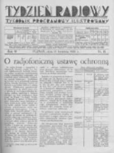 Tydzień Radjowy. 1930 R.4 nr15
