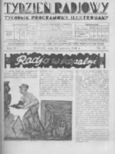 Tydzień Radjowy. 1930 R.4 nr25