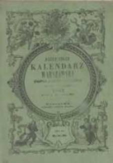 Józefa Unger Kalendarz Warszawski Popularno-Naukowy na rok zwyczajny 1857, który ma dni 365