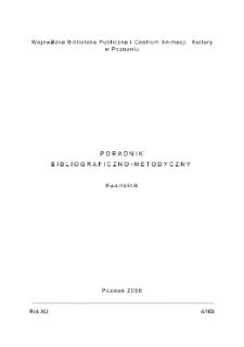 Poradnik Bibliograficzno-Metodyczny : 2008 z.4