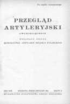 Przegląd Artyleryjski: dwumiesięcznik wydawany przez Dowództwo Artylerii Wojska Polskiego 1951 marzec/kwiecień R.29 Z.2