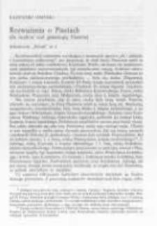 Rozważania o Piastach. (Ze studiów nad genealogią Piastów), cz. 2
