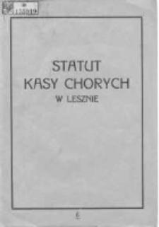 Statut Kasy Chorych w Lesznie