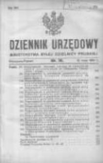 Dziennik Urzędowy Ministerstwa Byłej Dzielnicy Pruskiej 1921.05.12 R.2 Nr18