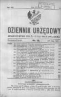 Dziennik Urzędowy Ministerstwa Byłej Dzielnicy Pruskiej 1921.05.27 R.2 Nr19