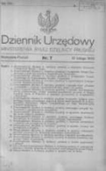 Dziennik Urzędowy Ministerstwa Byłej Dzielnicy Pruskiej 1920.02.18 R.1 Nr7