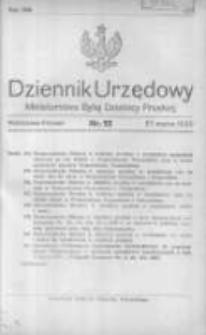 Dziennik Urzędowy Ministerstwa Byłej Dzielnicy Pruskiej 1920.03.27 R.1 Nr12
