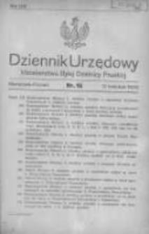 Dziennik Urzędowy Ministerstwa Byłej Dzielnicy Pruskiej 1920.04.12 R.1 Nr15