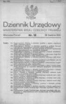 Dziennik Urzędowy Ministerstwa Byłej Dzielnicy Pruskiej 1920.04.29 R.1 Nr18