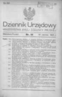 Dziennik Urzędowy Ministerstwa Byłej Dzielnicy Pruskiej 1920.06.30 R.1 Nr34