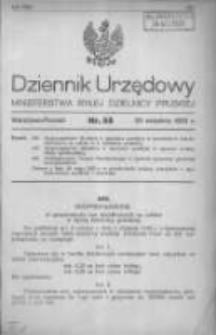 Dziennik Urzędowy Ministerstwa Byłej Dzielnicy Pruskiej 1920.09.20 R.1 Nr55