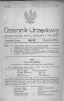 Dziennik Urzędowy Ministerstwa Byłej Dzielnicy Pruskiej 1920.12.29 R.1 Nr81