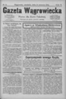 Gazeta Wągrowiecka: pismo dla ziemi pałuckiej 1926.06.13 R.6 Nr70
