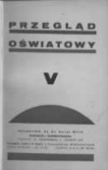 Przegląd Oświatowy: dwumiesięcznik Towarzystwa Czytelni Ludowych z dodatkiem p.n. Poradnik Bibljoteczny 1936 listopad/grudzień R.30 Nr5