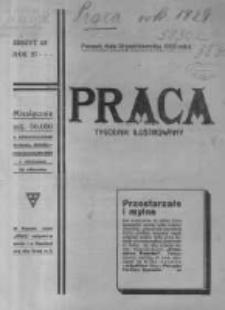 Praca: ilustrowany tygodnik popularny, poświęcony nauce - literaturze - sztuce - sprawom społecznym - godziwej rozrywce. 1923.10.28 R.27 nr43