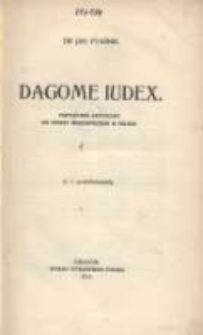 Dagome iudex: przyczynek krytyczny do genezy świętopietrza w Polsce