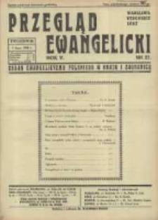 Przegląd Ewangelicki: organ ewangelizmu polskiego w kraju i zagranicą 1938.07.03 R.5 Nr27