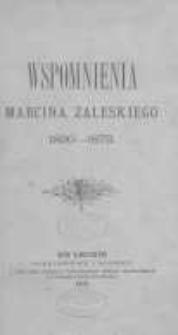 Wspomnienia Marcina Zaleskiego 1830-1873