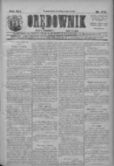 Orędownik: najstarsze ludowe pismo narodowe i katolickie w Wielkopolsce 1911.11.29 R.41 Nr272