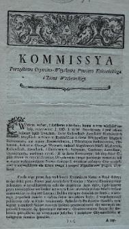 Kommissya porządkowa cywilno-woyskowa powiatu Kościańskiego i Ziemi Wschowskiey