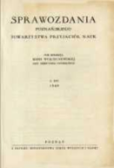 Sprawozdania Poznańskiego Towarzystwa Przyjaciół Nauk. 1949 R.16