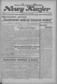 """Nowy Kurjer: dawniej """"Postęp"""" 1936.05.16 R.47 Nr115"""