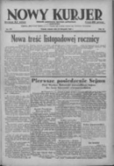Nowy Kurjer: dziennik poświęcony sprawom politycznym i społecznym 1938.11.29 R.49 Nr273