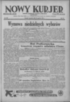 Nowy Kurjer: dziennik poświęcony sprawom politycznym i społecznym 1938.12.22 R.49 Nr292
