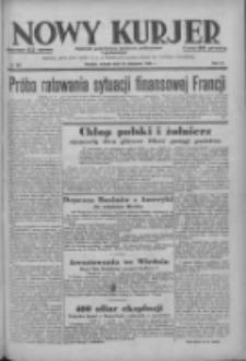 Nowy Kurjer: dziennik poświęcony sprawom politycznym i społecznym 1938.11.22 R.49 Nr267