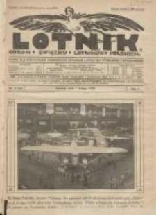 Lotnik: organ Związku Lotników Polskich: pismo dla wszystkich poświęcone sprawom lotnictwa cywilnego i wojskowego 1925.02.01 R.2 Nr2(19)