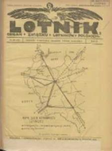 Lotnik: organ Związku Lotników Polskich 1925 R.2 Nr20(37)