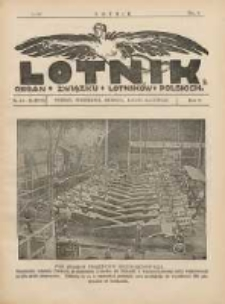Lotnik: organ Związku Lotników Polskich 1925 R.2 Nr10/12(28/29)