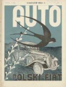 Auto: miesięcznik: organ Automobilklubu Polski oraz Klubów Afiljowanych: organe officiel de l'AutomobilKlub Polska et des clubs affiliés 1934 kwiecień Nr4