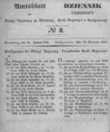 Amtsblatt der Königlichen Preussischen Regierung zu Bromberg. 1848.01.14 No.2