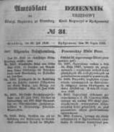 Amtsblatt der Königlichen Preussischen Regierung zu Bromberg. 1848.07.28 No.31