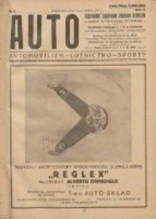 Auto: ilustrowane czasopismo sportowo-techniczne: organ Automobilklubu Polski: automobilizm, lotnictwo, sporty 1924.03.15 R.3 Nr6